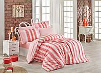Комплект постельного белья 200х220 HOBBY Poplin Debora коралловый 30289_2,0