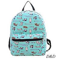 Женский мини-рюкзак с котами 1, фото 1