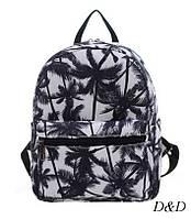 Жіночий міні-рюкзак з пальмами, фото 1