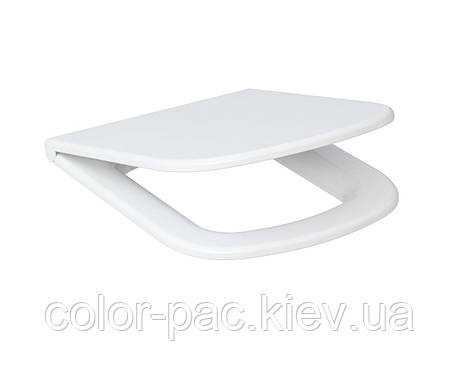 Сиденье для унитаза  Cersanit  COLOUR дюропласт медленно падающее, фото 2