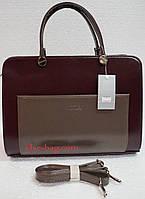 Женская сумка из матового лака с карманом, фото 1