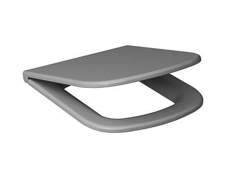 Сиденье для унитаза  Cersanit  COLOUR дюропласт серое медленно падающее, фото 2