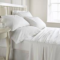 Комплект постельного белья полуторный LOTUS Сатин белый