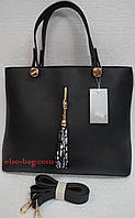 Женская сумка из эко кожи с кисточкой