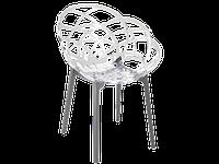 Крісло Papatya Flora біле сидіння, низ антрацит, фото 1