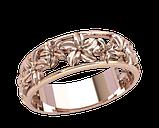 Кольцо  женское серебряное Цветы 21196, фото 2