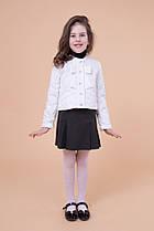 Укороченная демисезонная куртка ПАРИЖ белая