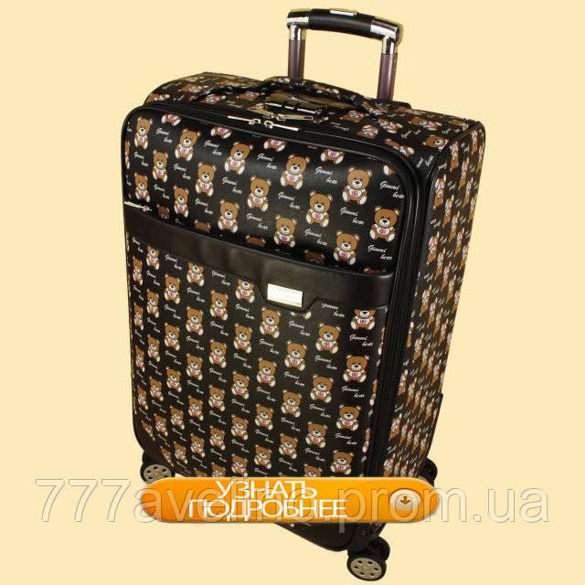 Дорожный чемодан из искусственной кожи