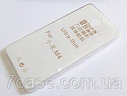 Чехол Xiaomi Mi 4 (Mi4) силиконовый ультратонкий для прозрачный