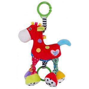 """Яркая плюшевая игрушка в коляску для ребенка Baby Mix """"Лошадка"""""""