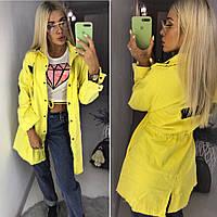 Джинсовая куртка удлиненная с нашивками