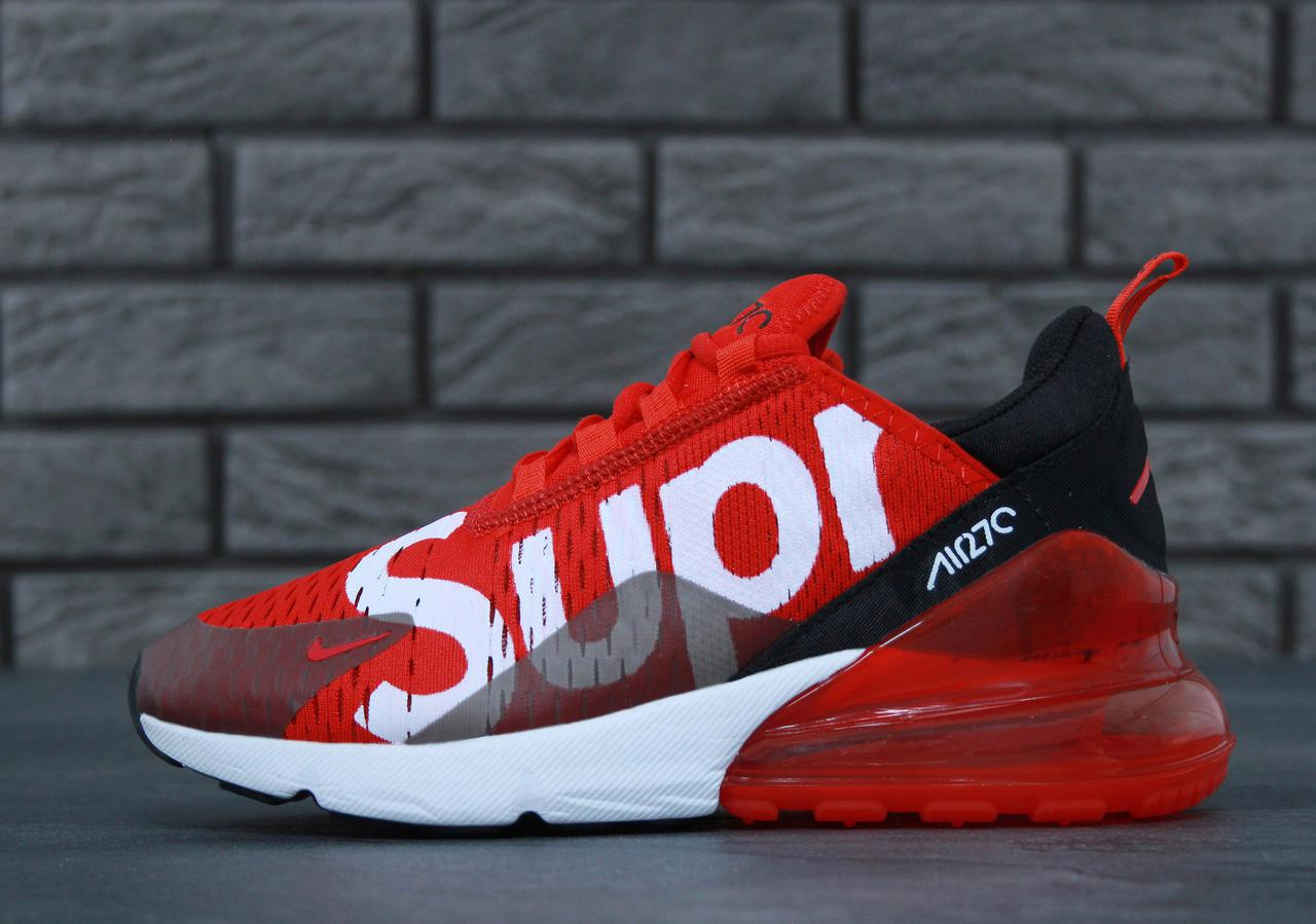 release date: f9090 78ef0 Кроссовки Nike Air Max 270 x Supreme x Black Red White