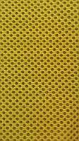 Сетка обувная на поролоне airmesh желтая