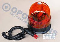 Проблесковый маячок (мигалка) оранжевый стационарный 12/24V