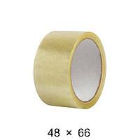 Скотч упаковочный прозрачный - 48 мм × 66 м