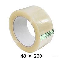 Скотч упаковочный прозрачный - 48 мм × 200 м