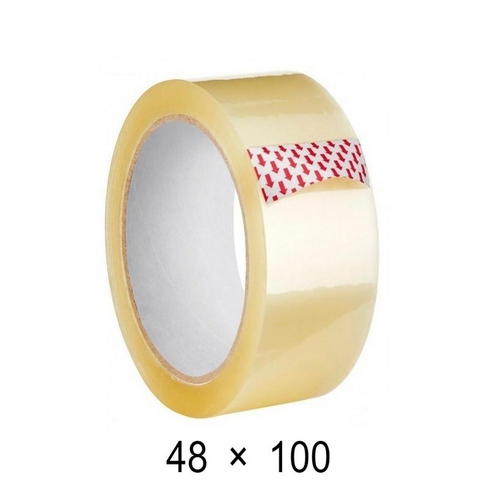 Скотч упаковочный прозрачный - 48 мм × 100 м