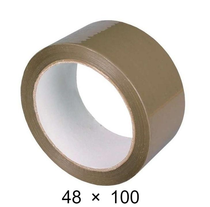 Скотч упаковочный коричневый - 48 мм × 100 м