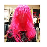 Парик карнавальный длинный розовый