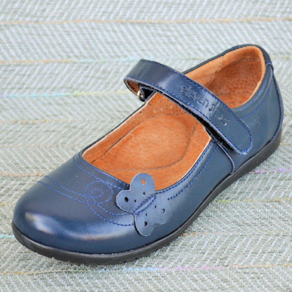 Синие кожаные туфли, Eleven shoes размер 36-23,5 см