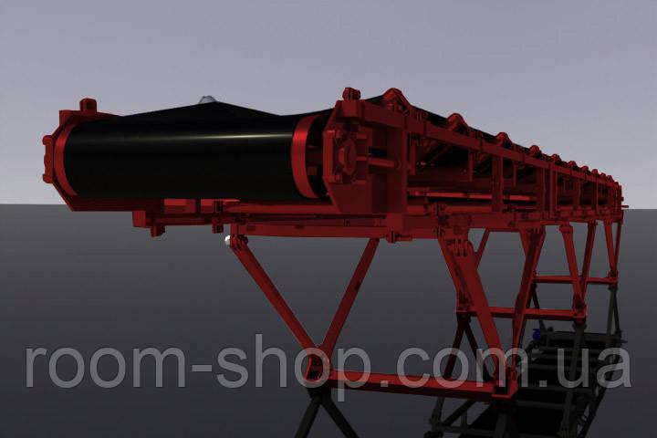 Ленточный погрузчик (конвейер) ширина 700 мм длинна 1 м.