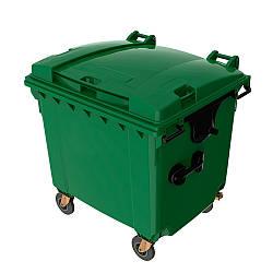 Мусорный бак для ТБО 1100л SULO зеленый (Германия)
