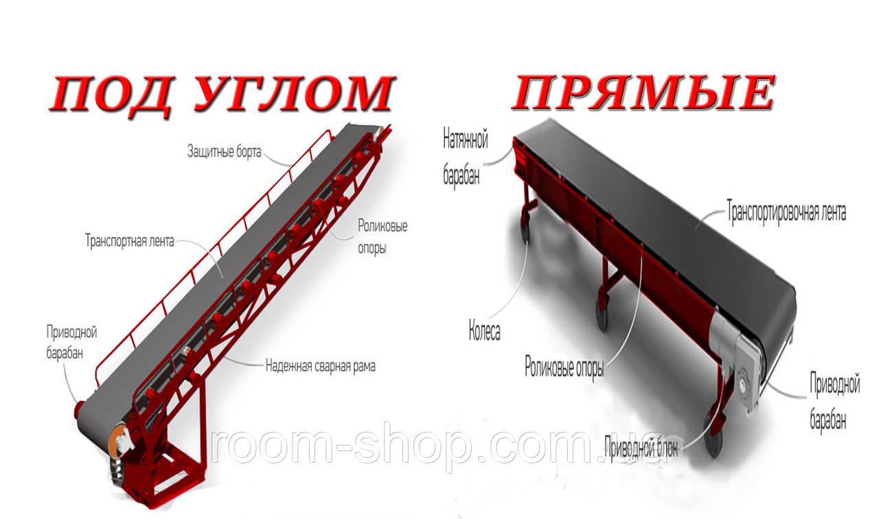 Ленточный погрузчик (конвейер) ширина 700 мм длинна 2 м.