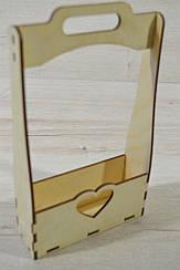 Деревянная корзинка упаковка для подарков