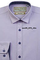Стильная лиловая рубашка для мальчика Княжич 116-170 см , фото 1