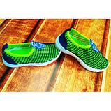 Кроссовки детские сеточка сине-зеленые Размер:21, 22, фото 2