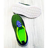Кроссовки детские сеточка сине-зеленые Размер:21, 22, фото 3