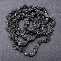 Бусины из натурального камня Лава крошка d-6-8мм L-90см