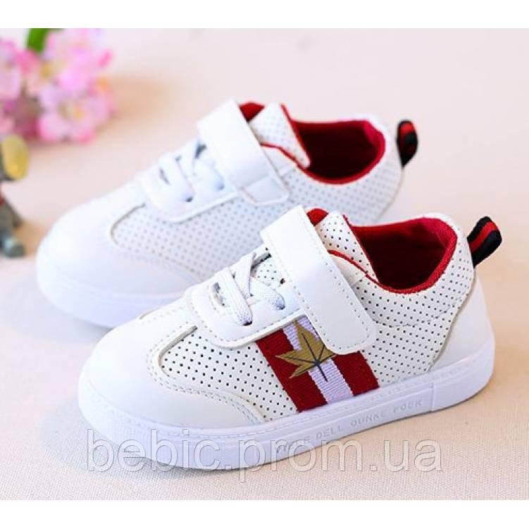 2ed572f55d262e Кросівки дитячі PU-шкіра дихаючі з червоними смужками Розмір:29-36 ...