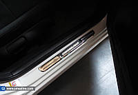 Ford Courier (2014-) Накладки на пороги с подсветкой Код:705735867