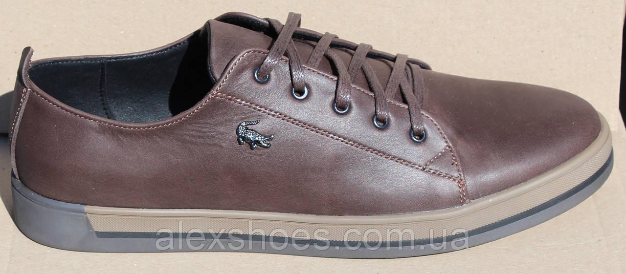 Туфли мужские на толстой подошве из натуральной кожи от производителя модель МВ-16