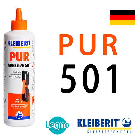 Клей полиуретановый Клейберит 501.0 PUR D4 (0,5 кг), Германия