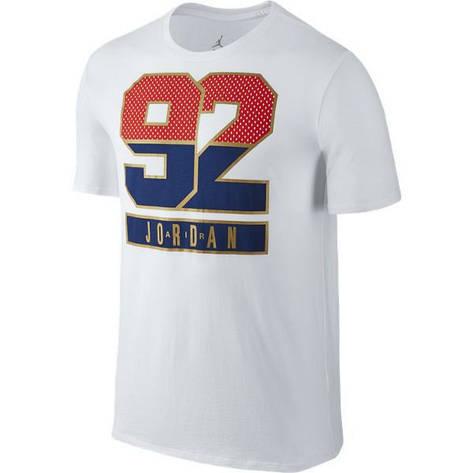 Майки та футболки Футболка NIKE AJ 7 92 TEE 801122-100(05-01-01-04) XS, фото 2