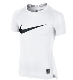 Короткий рукав для мальчиков Термобелье Nike Cool HBR Compression 726462-100 JR(02-08-06-02) S