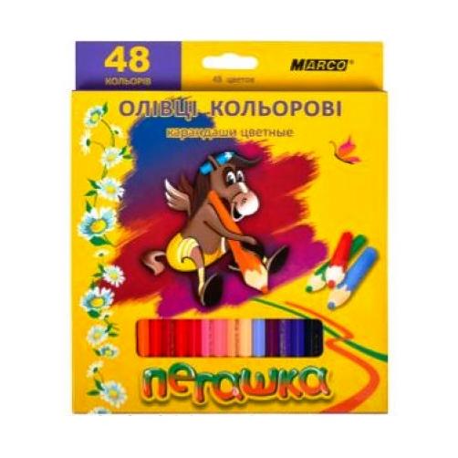 Кольорові олівці Пегашка 48 кольорів