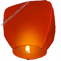 Небесный фонарик (купол красный 105 см.) Упаковка 10 шт.