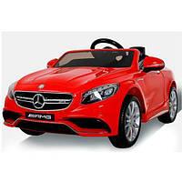 Детский Электромобиль Mercedes M 2797 EBLR-3, колеса EVA, кожаное сиденье, красный. Разные цвета.