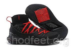 Мужские баскетбольные кроссовки Under Armour Curry 5 Higt Black Red