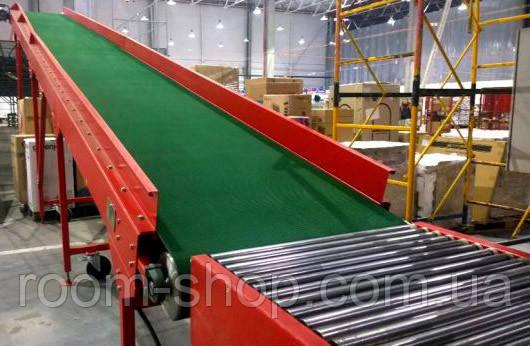 Ленточный конвейер (навантажувач) ширина 800 мм длинна 3 м.