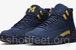 Мужские баскетбольные кроссовки Air Jordan Retro 12 Michigan