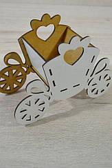 Деревянная карета упаковка для подарков