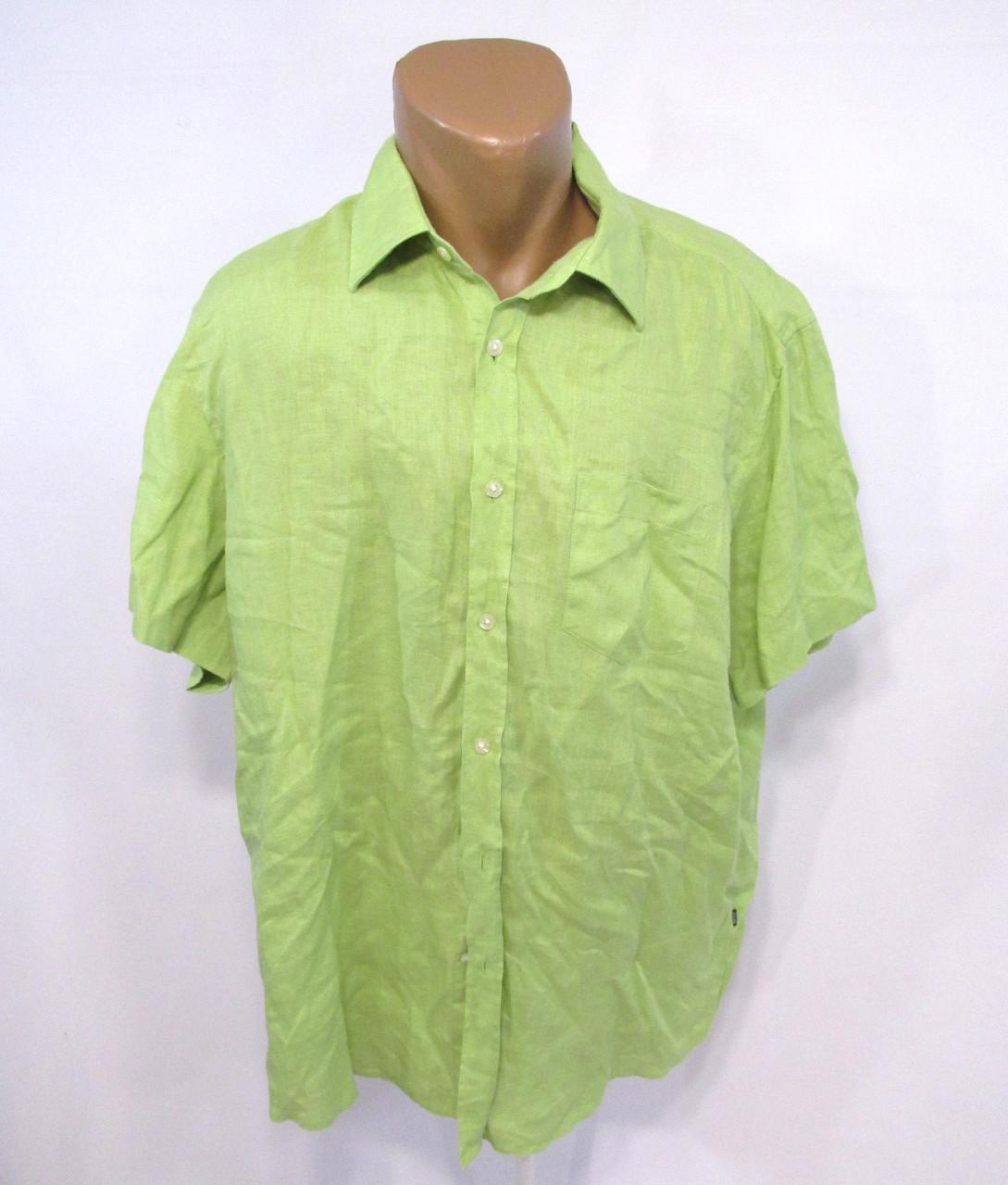 Тенниска Boss, лен, XL, зеленая, легкая, Как Новая!