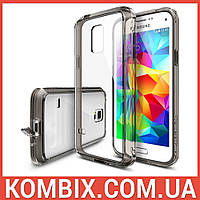 Чехол для SAMSUNG Galaxy S5 mini Smoke Black - Ringke Fusion, фото 1