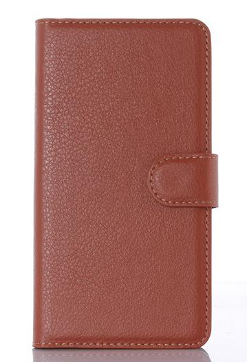 Кожаный чехол-книжка для Sony Xperia Z1 Compact d5503 коричневый