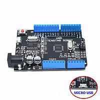 Arduino UNO R3 MEGA328P CH340G, micro USB