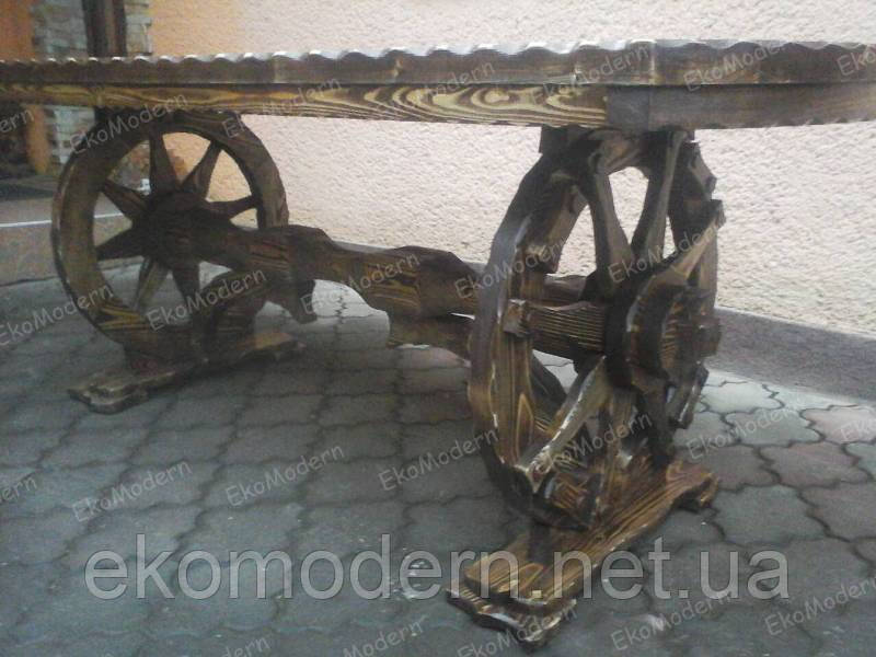 Стол деревянный состаренный ВАЛЬДИНГ